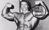 even Arnold loves deep squats!